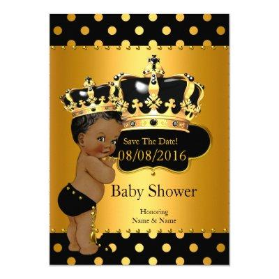 Save The Date Prince Baby Shower Ethnic Invitations