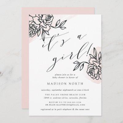 Secret Garden Baby Shower Invitation