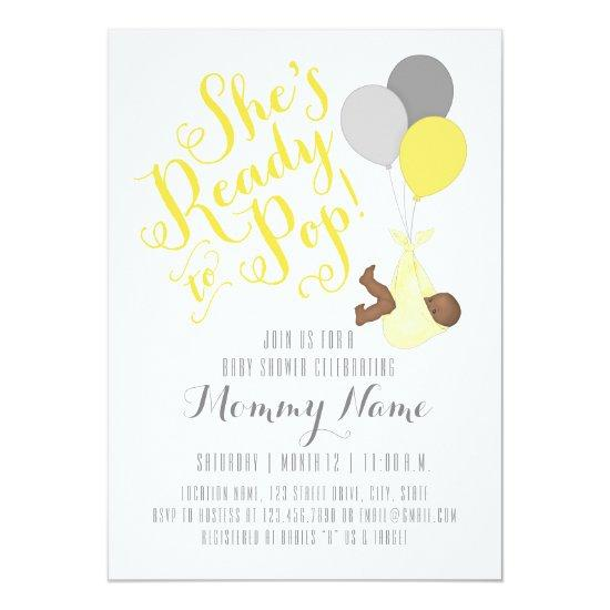 Shes ready to pop shower invitations baby shower invitations shes ready to pop shower invitations filmwisefo