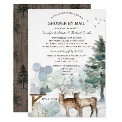 Shower by Mail Forest Boy Country Deer Baby Shower Invitation