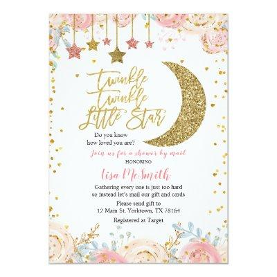 Shower by Mail Twinkle Little Star Baby Shower Invitation