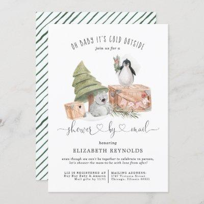 Shower by Mail | Winter Christmas Baby Shower Invitation
