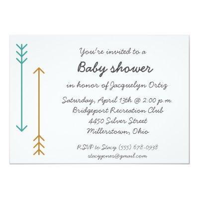 Simple Arrow Bohemian Invite