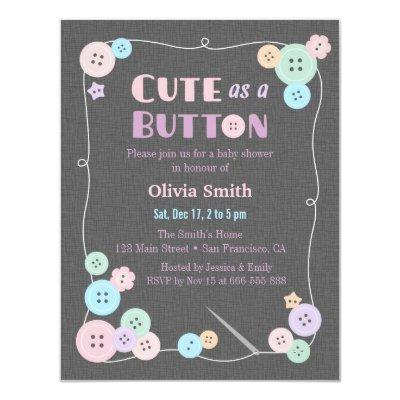 Lovely Simple Cute As A Button
