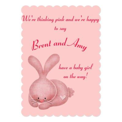 Simple Pink Girl Couples Invitations