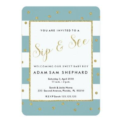 Welcome baby boy invitations baby shower invitations baby shower sip and see invite new baby welcome party invitations filmwisefo