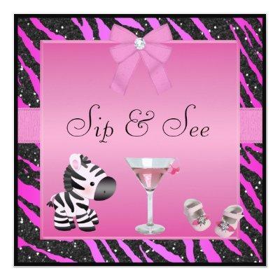 Sip & See Pink Zebra