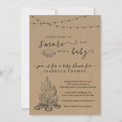 S'mores Baby Shower Invitation