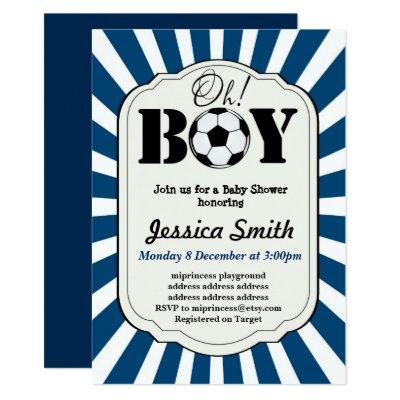 4a068325377ec Soccer Baby Shower Baby Shower Invitations | Baby Shower Invitations