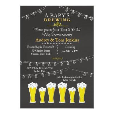 Something's Brewing Baby Shower Invitations