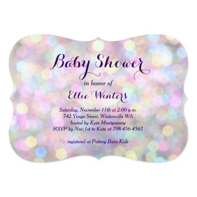 Sparkly Baby Shower Invitations Baby Shower Invitations