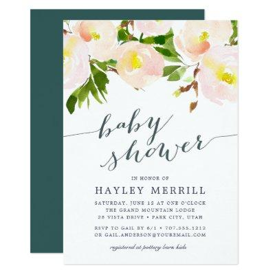 Spring Blush | Watercolor Baby Shower Invitations