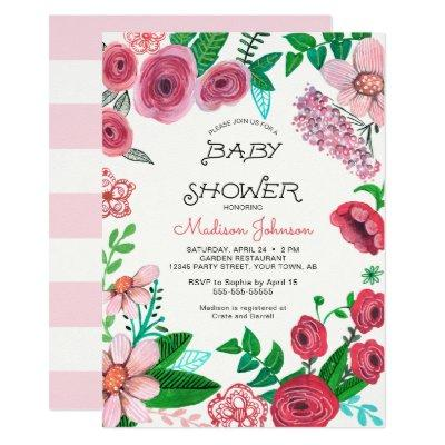 Spring Flowers | Baby Shower | Invitations