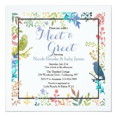 Spring Frame Meet & Greet Invitations