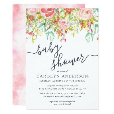 Spring Summer Floral | Baby Shower Invitations