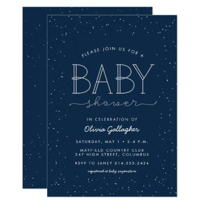 Star baby shower invitation