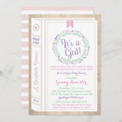 Story Book Baby Shower Invitation