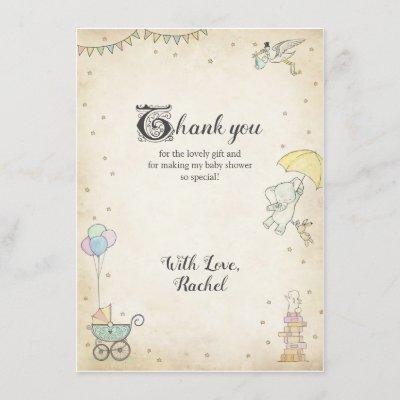 Story Book Baby Shower Thank You Card