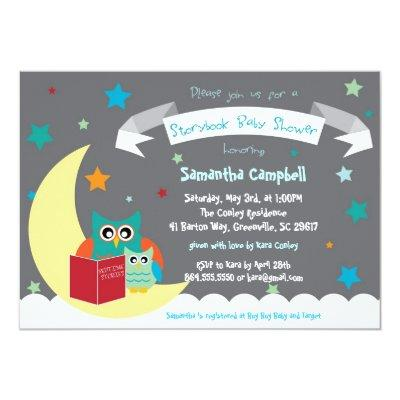 Storybook Book Baby Shower Invitation