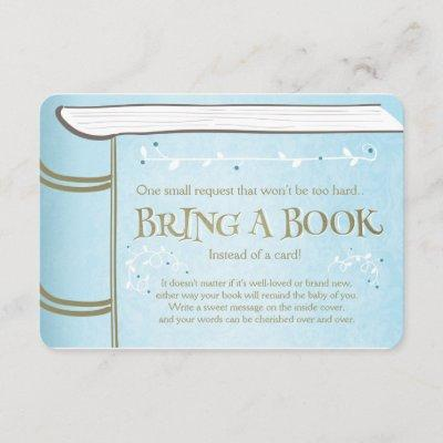 Storybook Bring a book Vintage Boy Blue Enclosure Card