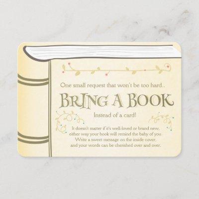 Storybook Bring a book Vintage Yellow Enclosure Card