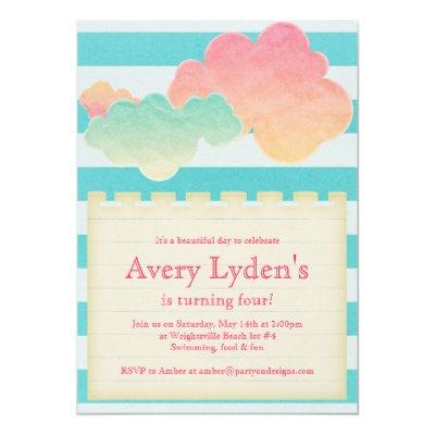 Pool party baby shower invitations baby shower invitations summer beach pool party baby shower bridal invite filmwisefo Choice Image