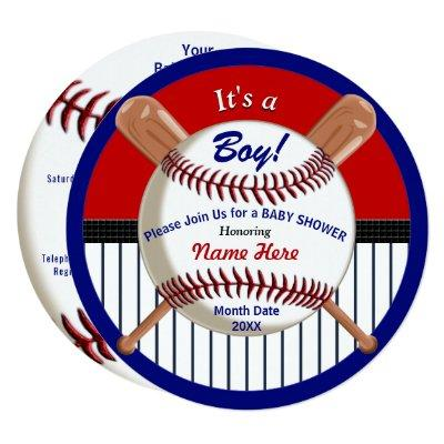 Super Cute Baseball Baby Shower Invitations