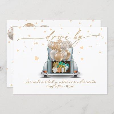 Surprise Drive Through Baby Shower Parade 2 Invitation