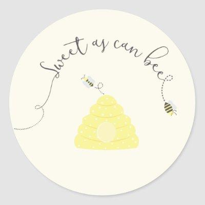Sweet As Can Bee Classic Round Sticker