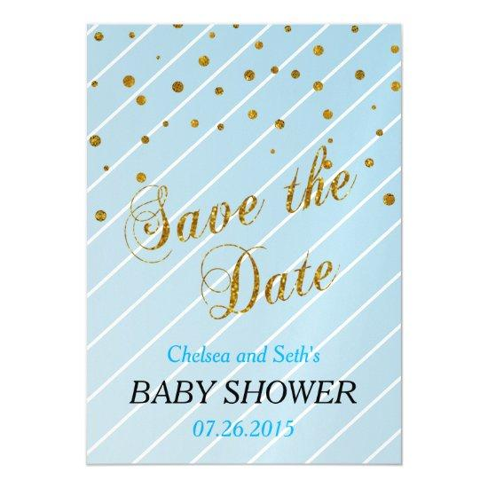 Sweet baby boy blue gold confetti baby shower magnetic sweet baby boy blue gold confetti baby shower magnetic invitations filmwisefo