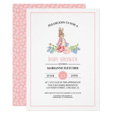 Sweet Baby Bunny | Rabbit Baby Shower Invitations