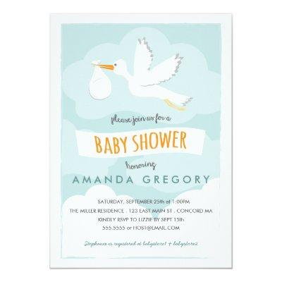 Stork delivery baby shower invitation baby shower invitations baby sweet delivery stork sweet delivery stork delivery stork boy baby shower invite filmwisefo