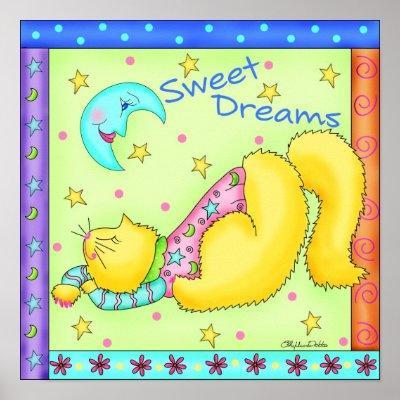 Sweet Dreams Cat Poster