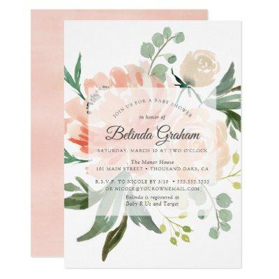Sweet Floral Baby Shower Invitation