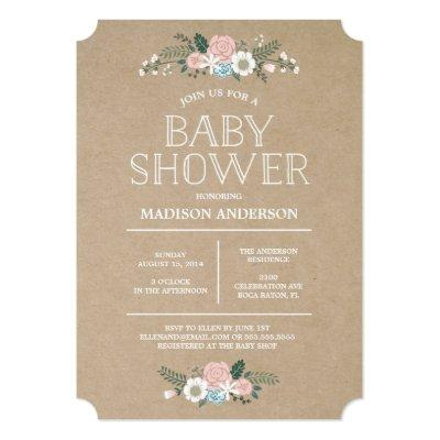 Sweet Floral | Baby Shower Invitation