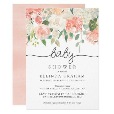 Sweet Florals | Baby Shower Invitations
