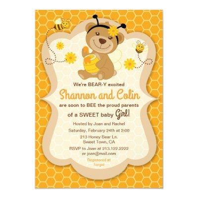 Honey Bee Baby Shower Baby Shower Invitations Baby Shower Invitations