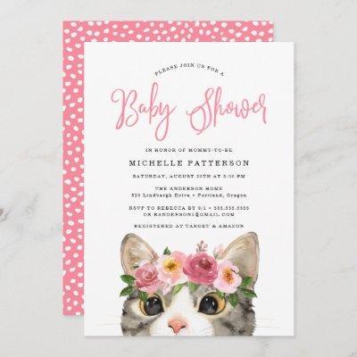 Sweet Kitty | Baby Shower Invitation