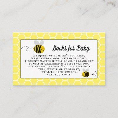 Sweet Little Honey Bee Baby Shower Books For Baby Enclosure Card