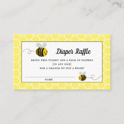 Sweet Little Honey Bee Baby Shower Diaper Raffle Enclosure Card