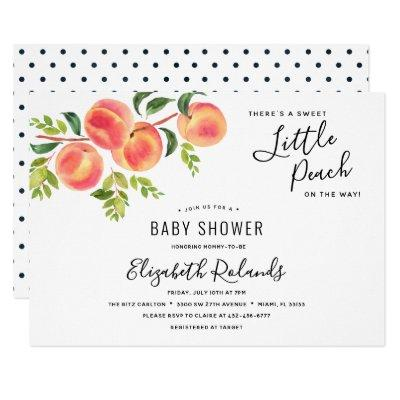 Sweet Little Peach Baby Shower Invitation
