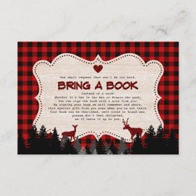 Sweet Lumberjack Baby Shower Bring a Book Enclosure Card