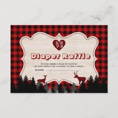 Sweet Lumberjack Baby Shower Diaper Raffle Enclosure Card