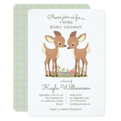 Sweet Woodland Deer Twin
