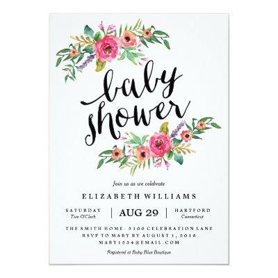 Sweetest Summer Baby Shower Invitations