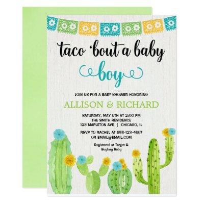 Taco baby shower, Mexican fiesta boy couples Invitations