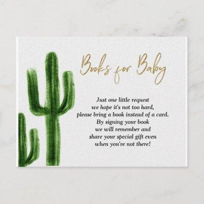Taco bout baby Cactus Baby Shower Books for Baby Invitations Postcard