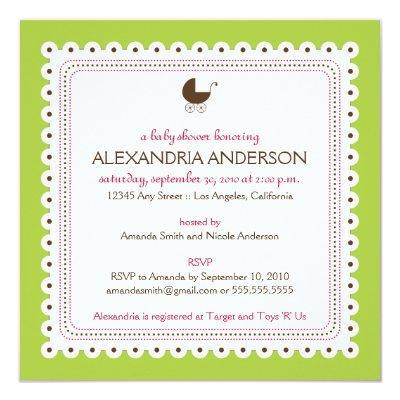 {TBA} Lime Precious Custom Baby Shower Invitation