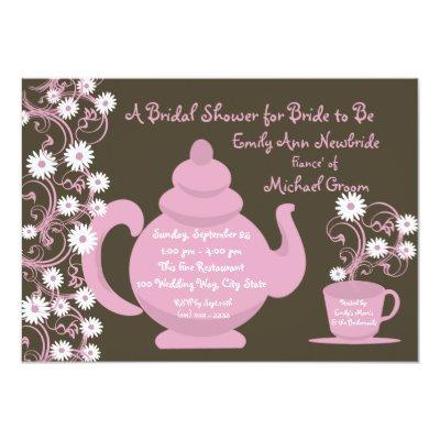 Teapot baby shower invitations baby shower invitations tea party bridal shower and recipe invitations filmwisefo