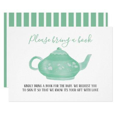 Tea Party Shabby Chic Baby Shower | Bring A Book Invitation